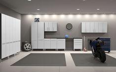 Garage 7' x 30' x 2' 12-Piece Storage Cabinet Set