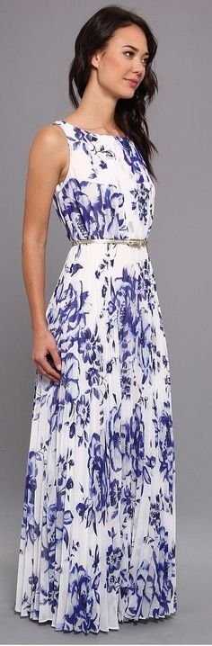 Floral Floor Length Maxi Dress