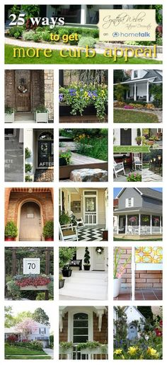DIY::25 ways to get more curb appeal ! Excellent Post ! by @Cynthia Weber
