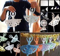 How To Make Snowflake Ballerinas – DIY