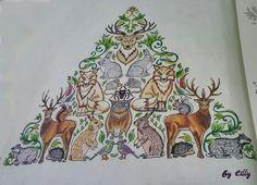 Floresta encantada cervo / floresta encantada / jardim secreto / floresta encantada piramede #johannabasford #florestaencantadapiramede