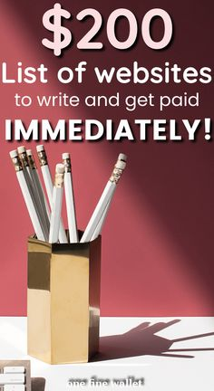 Want to get paid to write online? Here are 16 HIGH paying wesbites for you to write and get paid instantly working at home. Make Money Writing, Way To Make Money, Make Money Online, Legit Work From Home, Work From Home Jobs, English Writing Skills, Writing Tips, Online Business Opportunities, Business Ideas