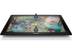 Lenovo and ubisoft deliver cool touch screen games on giant 27 inch