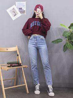 마리쉬♥패션 트렌드북! Korea Fashion, 80s Fashion, Asian Fashion, Girl Fashion, Ulzzang Fashion, Hijab Fashion, Fashion Outfits, Outdoor Fotografie, Pretty Outfits