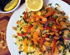 Frământări la cuptor: Cuscus cu legume (de post)