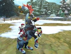 Rudolph the Red Nose Reindeer, horse version. xD