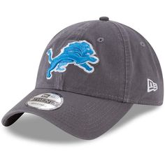 Detroit Lions New Era Core Classic 9TWENTY Adjustable Hat – Graphite a7dcad6efd6