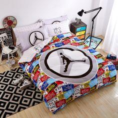 NEW Jordan Basketball Queen Bedding Sets Bed Sheet Duvet Cover NBA
