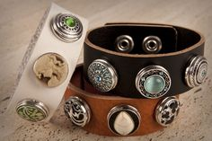 Personalised leather bracelets with 'Chunk' snap charms are the latest fashion accessory fresh from Europe to hit Australia this season.  Versatile interchangeable snap chunks make it easy to create your own style. Matching your outfit is a SNAP!