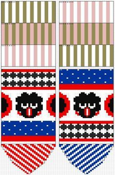 marimekko villasukat - Google-haku Mittens Pattern, Knit Mittens, Knitting Socks, Knitting Charts, Knitting Patterns, Crochet Patterns, Marimekko, Fair Isle Knitting, Knitting For Kids