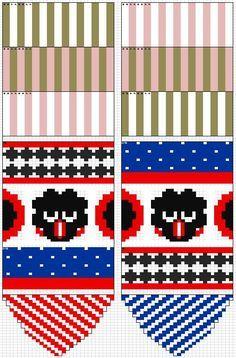 marimekko villasukat - Google-haku Mittens Pattern, Knitting Socks, Knitting Charts, Knitting Patterns, Marimekko, Fair Isle Knitting, Knitting For Kids, Hama, Accessories