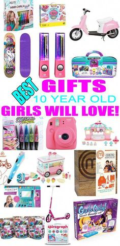 Best Toys for 10 Year Old Girls Top Gifts For 10 Year Old Girls! Best suggestions for gifts & presents for a girls tenth birthday, [. Christmas Presents For 10 Year Olds, 10 Year Old Gifts, Christmas Gifts For Girls, Christmas Crafts, Best Gifts For Girls, Birthday Present For Boyfriend, Birthday Presents For Girls, Presents For Boyfriend, Kids Birthday Gifts