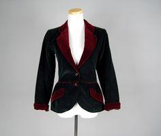 Vintage Yves Saint Laurent corduroy velvet blazer
