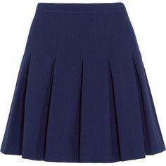 Diane von Furstenberg Gemma pleated stretch-jersey mini skirt found on Polyvore
