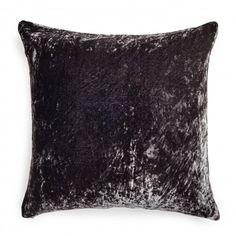 abcDNA Luminous Charcoal Velvet Pillow