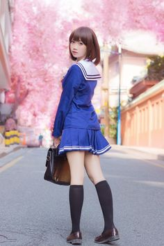 Post anything (from anywhere!), customize everything, and f School Girl Japan, Japan Girl, School Uniform Fashion, School Uniform Girls, Girls Uniforms, Japanese School Uniform, Cute Asian Girls, Beautiful Asian Girls, Cute Girls