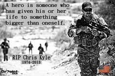 Thank you Chris Kyle. Blessed are the peacemakers for they shall be called sons of God. Matthew 5:9