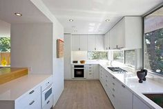 Modern Exposed Concrete House Architectural Design White Kitchen Interior