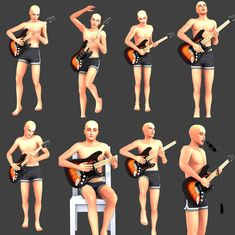 Made some poses for perfectly amazing guitar. [SP]Playing with single poses You need: Pose Player & Teleport Any Sim, this awesome guitar, micstand TOU Don't.