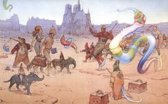 """Jean Giraud, the French cartoonist best known by his pen name """"Moebius,"""" died Saturday in a Paris hospital after a lengthy battle with cancer, at the age of Jean Giraud Moebius, Moebius Art, Art Et Illustration, Illustrations, Fondation Cartier, Serpieri, Jordi Bernet, Ligne Claire, Bd Comics"""