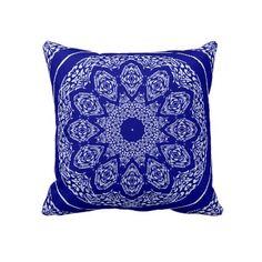 Boho Bazaar Mix & Match Cobalt & Orange Pillow by ArtColorLifeStyle  $59.95