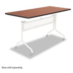 Safco Impromptu Series Mobile Training Table Top, Rectangular, 72 inch x 24 inch, Gray