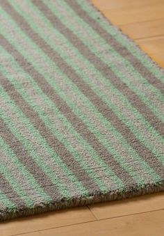 #HookandLoom Meadow Stripe Eco Cotton Loom-Hooked Rug