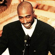 On February 28, 1996, Tupac Shakur attends the 38th Annual Grammy Awards at the Shine Auditorium in Los Angeles CA