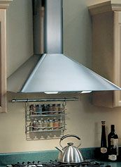 pics of range hoods   HIGH STYLE, LOWER PRICE The Kenmore 5030 wall-chimney range hood, $525 ...
