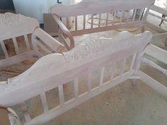 παραδοσιακός καναπές από ξύλο δρυς / traditional greek sofa / handcarved / unique design Cribs, Toddler Bed, Furniture, Home Decor, Cots, Child Bed, Decoration Home, Bassinet, Room Decor