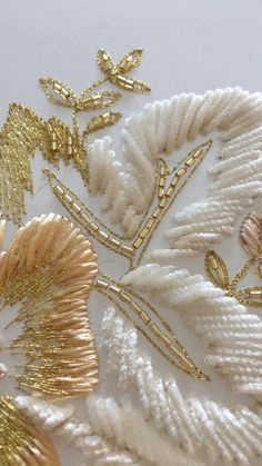 tambour beading Lesage - Iby - Level I Tambour Beading, Tambour Embroidery, Hand Work Embroidery, Embroidery On Clothes, Couture Embroidery, Bead Embroidery Jewelry, Embroidery Fabric, Embroidery Fashion, Bead Embroidery Tutorial