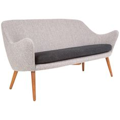 Hans Olsen Two-Seat Sofa | From a unique collection of antique and modern loveseats at https://www.1stdibs.com/furniture/seating/loveseats/