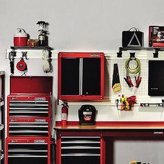 craftsman 6' metal workbench backwall - tools - garage