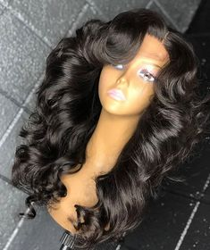 Cute long hairstyles wigs for black women lace front wigs human hair wigs african american wigs Baddie Hairstyles, Weave Hairstyles, Pretty Hairstyles, Curly Hair Styles, Natural Hair Styles, Human Hair Lace Wigs, Hair Wigs, Honey Hair, Brown Blonde Hair