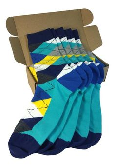 The Best 5 Pair Groomsmen Wedding Party Socks - Grey/Yellow/Blue Argyle Teal Yellow Wedding, Grey Yellow, Blue, Teal Groomsmen, Groomsmen Socks, Navy Blush Weddings, Argyle Socks, Men's Socks, Wedding Converse