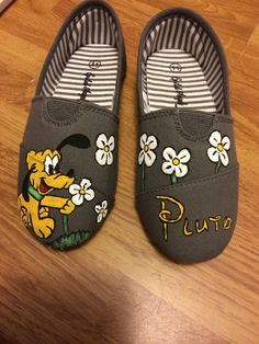 Painted Pluto shoes. $25