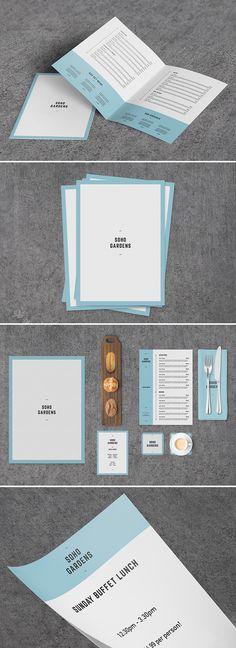 Soho Gardens - A modern elegant menu with a quirky feel. From Print Waiter. #menu #modern #creative