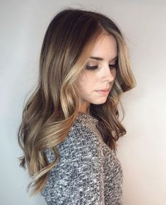 This post will cause . Featured hair by stylist using… Funky Hairstyles For Long Hair, Work Hairstyles, Pretty Hairstyles, Long Hair Styles, Blonde Foils, Hair Foils, Light Brown Hair, Dark Hair, Brushed Out Curls