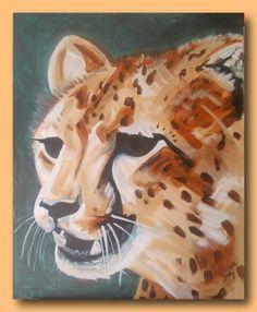 Cheetah - Acrylic on canvas 76 x 60cm