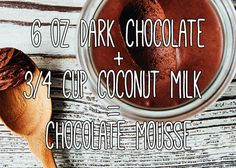 """Chocolate mousse is my favorite dessert, so I'm <a href=""""http://www.ohladycakes.com/2014/03/two-ingredient-chocolate-mousse.html"""" target=""""_blank"""">making this</a> ASAP."""