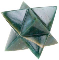 Etoile de Merkaba en héliotrope (jaspe sanguin)  Bloodstone merkaba star