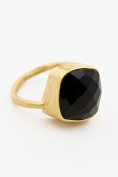 Square Ring - Black Onyx