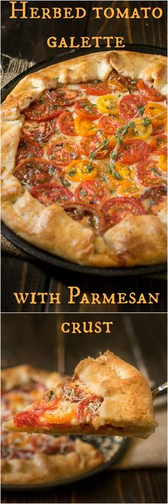 Herbed tomato galette with parmesan crust