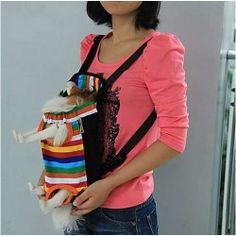Color Stripes Pet Dog Front Carrier Backpack Bag - Size M