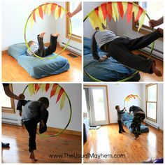 This would be fun as part of a Super Hero Obstacle Course!                                                                                                                                                                                 More
