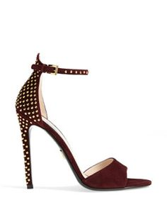 PRADA Ankle Buckle Studded Sandal