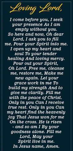 Prayer to be full of the Holy Spirit - The Catholic Herald Prayer Verses, Faith Prayer, God Prayer, Prayer Quotes, Power Of Prayer, Bible Quotes, Bible Verses, Come Holy Spirit Prayer, Holy Spirit Quotes