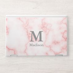 Shop Custom Name and Monogram on Faux Pink Marble HP Laptop Skin created by redbook. Personalize it with photos & text or purchase as is! Monogram Gifts, Monogram Initials, Hp Laptop Skin, Laptop Cases, New Laptops, Pink Marble, Design Case, Floral Watercolor, Holiday Cards