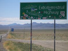Extraterrestrial Highway near area 51. The kids thought this was...funny.