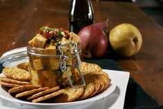 Italian Marinated Cheese- Cheese cubes marinated in an Italian vinaigrette, Serve with crackers and fruit for a elegant but easy appetizer. Wine And Cheese Party, Wine Cheese, Food Styling, Marinated Cheese, Cheese Cubes, Homemade Cheese, Cheese Lover, How To Make Cheese, Foodblogger